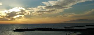 Sonnenuntergang Fañabe mit Blick auf Gomera